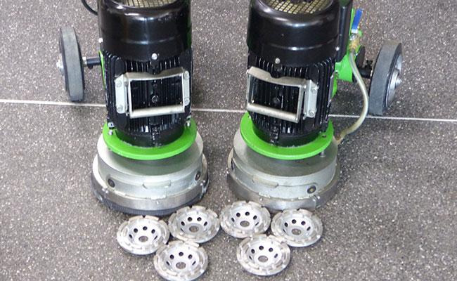 Bauma - Beton und Abbruch - Schleifmaschine Fliesenkleber