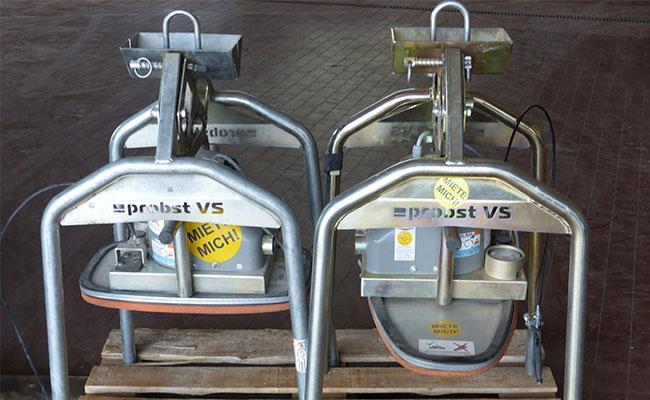 Bauma - Beton und Abbruch - Vakuum Verlegegerät