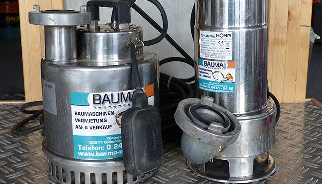 Bauma - Pumpen, Heizen, Trocknen - Schmutzwasserpumpe